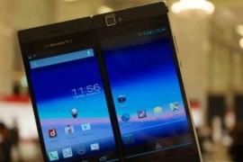 شركة يابانية تطرح هاتفا ذكيا بشاشتين بصورة كبيرة أو اثنتين