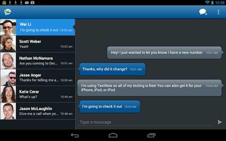 تطبيق TextNow
