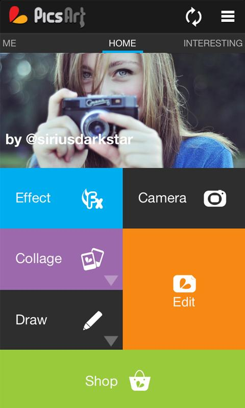 PicsArt Top 10 apps for photo editing for Android