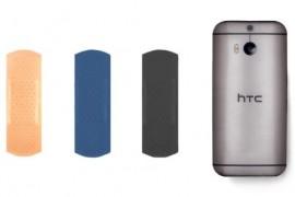 HTC تسخر من سامسونج وتصميم هاتف Galaxy S5 بإستخدام ضمادة الجروح