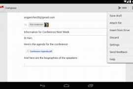 تحديث لتطبيق Gmail يضيف إمكانية إضافة المرفقات بإستخدام Google Drive