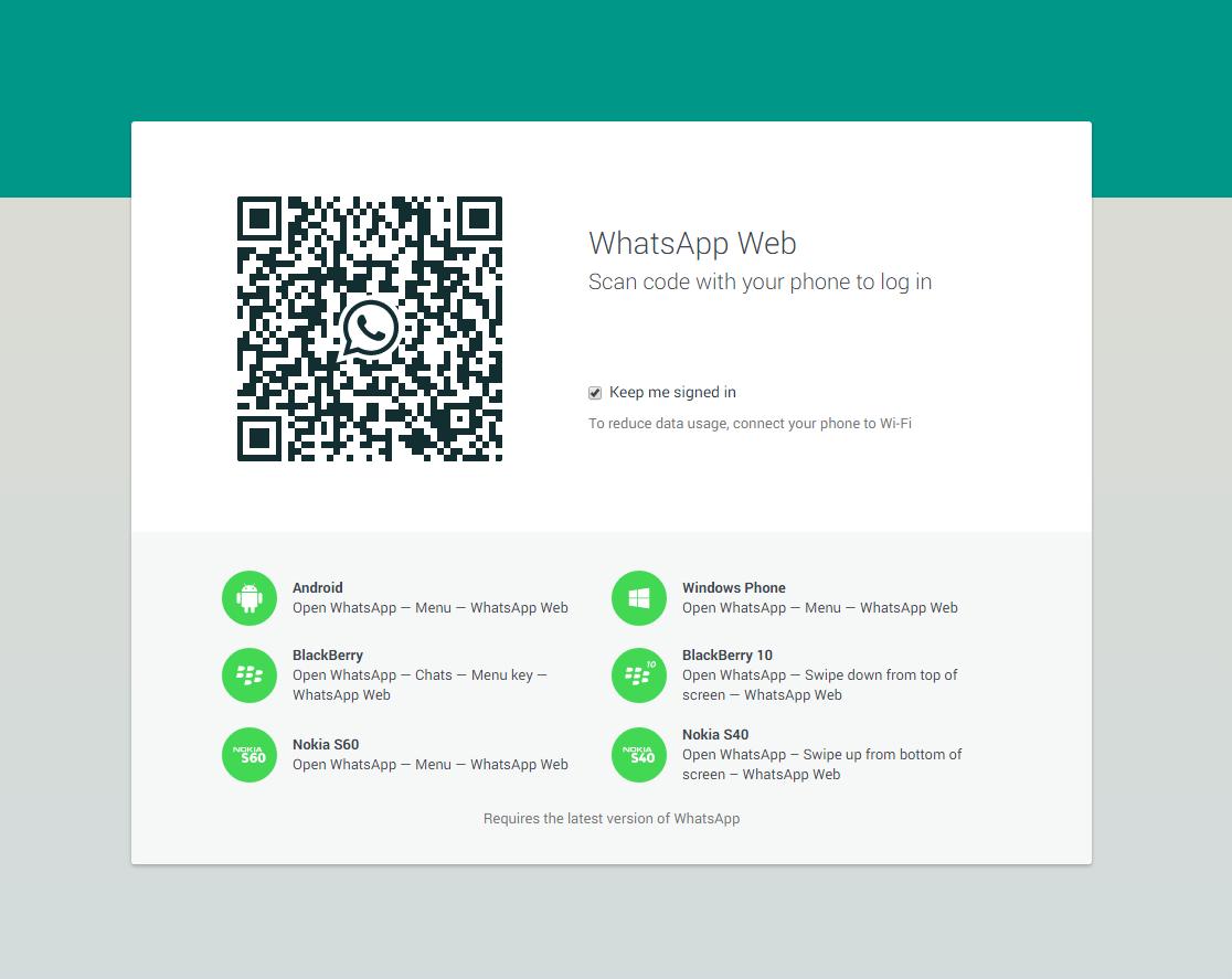 الخطوة الثانية: من تطبيق الواتس اب على هاتفك، توجه إلى WhatsApp Web.