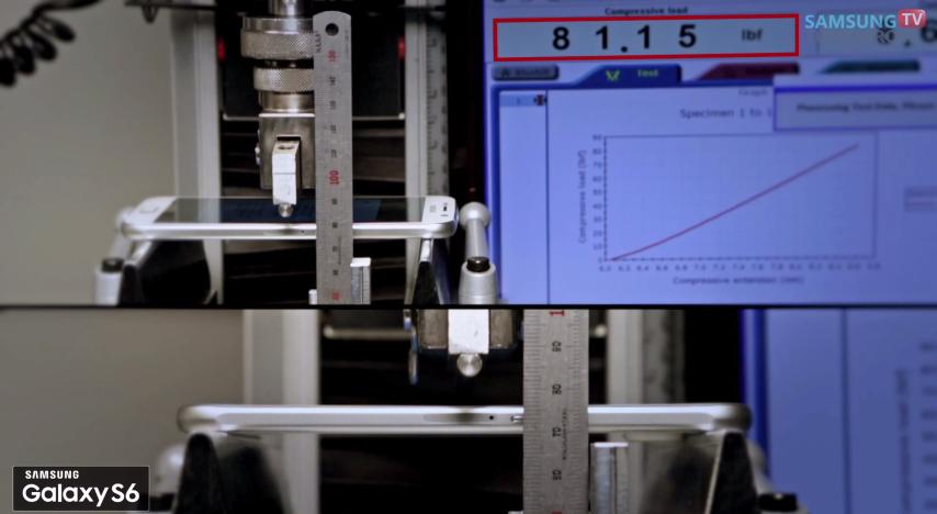 سامسونج تجري اختبار الإنحناء على Galaxy S6 و S6 Edge، شاهدوا النتيجة