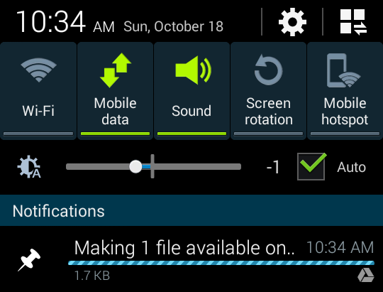 Screenshot 2015 10 18 10 34 05 - تعرف على كيفية حفظ الملفات والصور على Google Drive واسترجاعها بدون انترنت