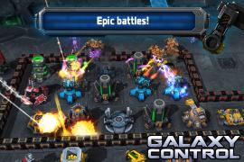 أنشئ قاعدتك و صمم إستراتيجيات حربية في الفضاء مع لعبة Galaxy Control