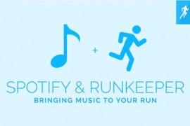 دمج خدمة الموسيقى لتطبيق Spotify مع تطبيق النشاط Runkeeper