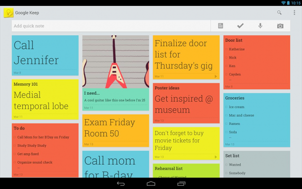 Google-Keep-Dashboard