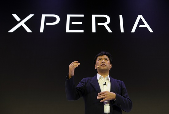 EVP, Global Sales & Marketing, at Sony Mobile Communications, Hideyuki Furumi, gives a press conference on February 26, 2018 in Barcelona, to present the new Sony Xperia XZ Premium 2 on the first day of the Mobile World Congress (MWC). The Mobile World Congress, the world's biggest mobile fair, is held in Barcelona from February 26 to March 1.  / AFP PHOTO / LLUIS GENE