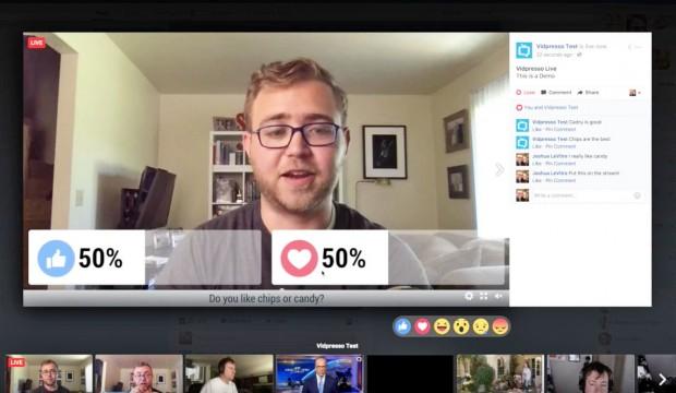 """فيس بوك يحسن خدمة البث المباشر من خلال استحواذه على خدمة """"Vidpresso"""""""