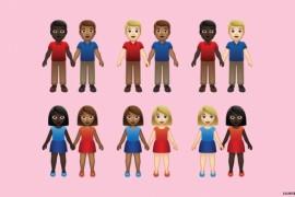 71 ايموجى جديد بدرجات الألوان المختلفة للأزواج