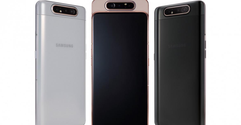 6804c6e92 أعلنت العملاق الكوري، سامسونج الآن عن أحدث إصدار من سلسلة هواتف A في هاتف  Galaxy A80 الذي يأتي بوحدة منزلقة تضم كاميرة قابلة للتدوير.