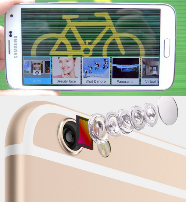 camera iphone 6 samsung galaxy s5